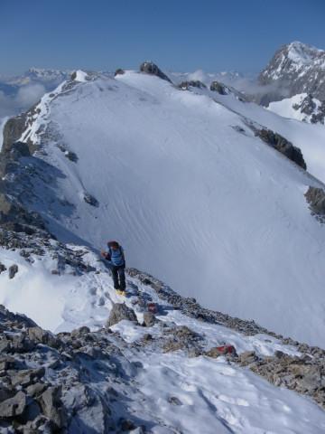 Foto: Wolfgang Lauschensky / Ski Tour / Scheichenspitze - Gruberkar / Gamsfeldspitze aus dem Westgrat / 22.03.2012 16:44:45