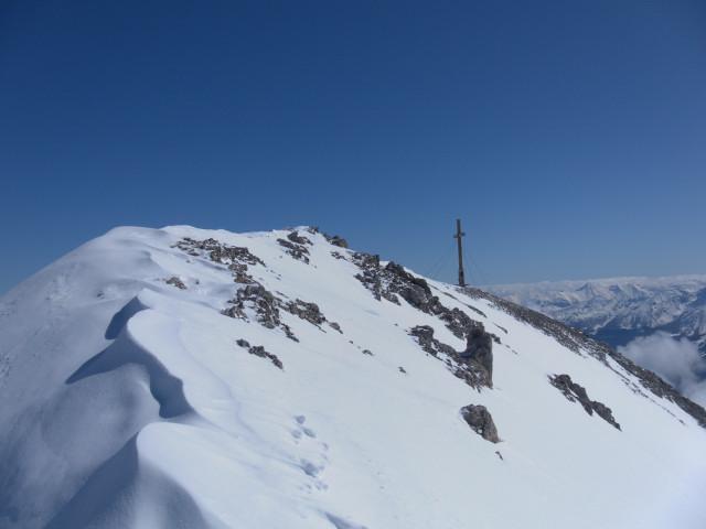 Foto: Wolfgang Lauschensky / Ski Tour / Scheichenspitze - Gruberkar / Gipfelgrat der Scheichenspitze / 22.03.2012 16:44:36