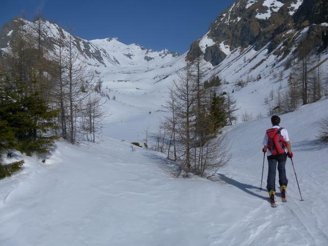 Foto: Wolfgang Lauschensky / Skitour / Zechnerkarspitze, 2452m / Einstieg in das lange Kar 'Granitzl' / 09.10.2011 15:15:39