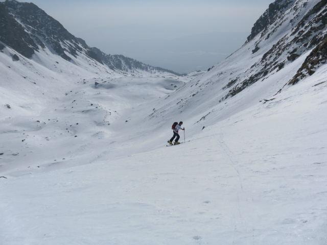Foto: Wolfgang Lauschensky / Ski Tour / Zechnerkarspitze, 2452m / Anstieg in den oberen Karhängen / 09.10.2011 15:14:05