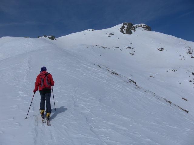 Foto: Wolfgang Lauschensky / Ski Tour / Zechnerkarspitze, 2452m / Südwestgratrücken zur Zechnerkarspitze / 09.10.2011 15:13:54