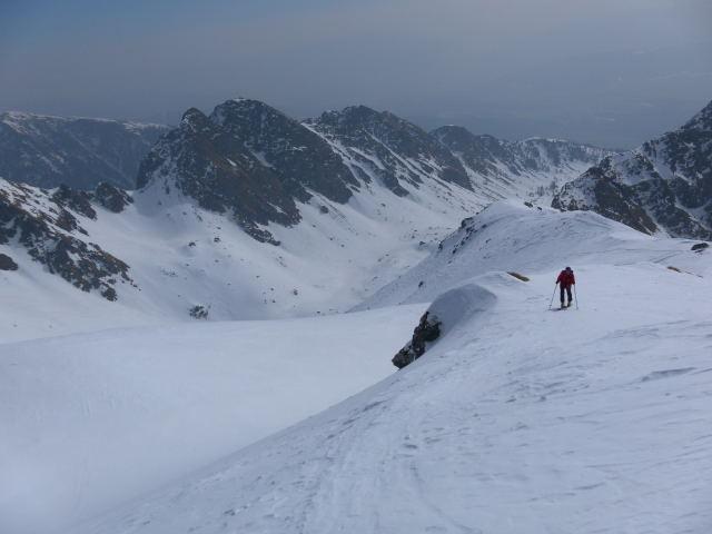 Foto: Wolfgang Lauschensky / Skitour / Zechnerkarspitze, 2452m / Rückblick vom Südwestgratrücken / 09.10.2011 15:13:44