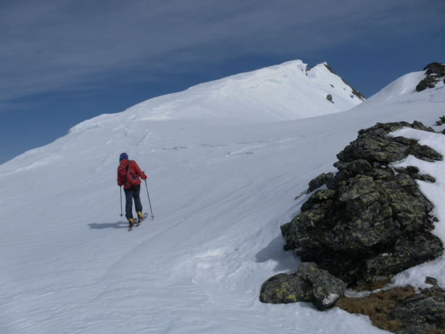 Foto: Wolfgang Lauschensky / Skitour / Zechnerkarspitze, 2452m / Gipfelgrat / 09.10.2011 15:13:37