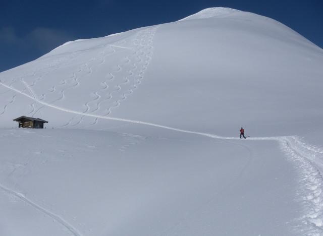 Foto: Wolfgang Lauschensky / Ski Tour / Zirmkogel (2215m) / Gipfelhang des Zirmkogels / 12.02.2013 17:00:34