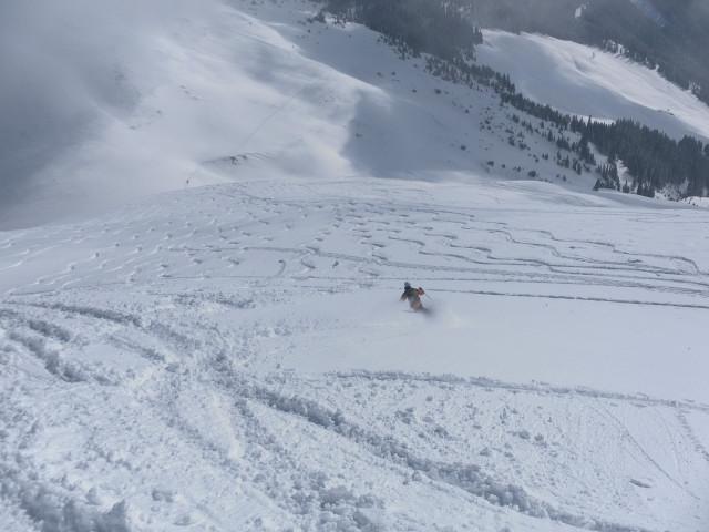 Foto: Wolfgang Lauschensky / Ski Tour / Zirmkogel (2215m) / Abfahrt über den Gipfelhang / 12.02.2013 16:59:50