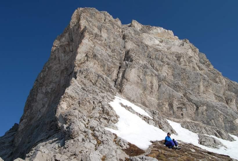 Foto: Bernhard Berger / Skitour / Über die Arzler Reise zur Arzler Scharte / In der Mannlscharte (2277m)  (Foto Bernd Golas) / 24.04.2009 12:49:16