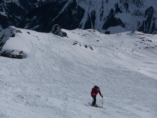Foto: Wolfgang Lauschensky / Ski Tour / Von Aurach auf den Staffkogel (2115m) / steiler Südhang zum Gipfel / 02.01.2013 18:11:54