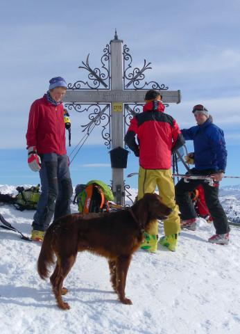 Foto: Wolfgang Lauschensky / Ski Tour / Von Aurach auf den Staffkogel (2115m) / Staffkogel Gipfelschmuck / 02.01.2013 18:11:17