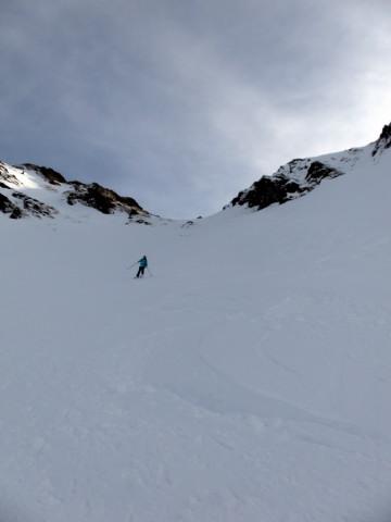 Foto: Wolfgang Lauschensky / Ski Tour / Von Aurach auf den Staffkogel (2115m) / steile höhere Westrinne / 02.01.2013 18:11:07