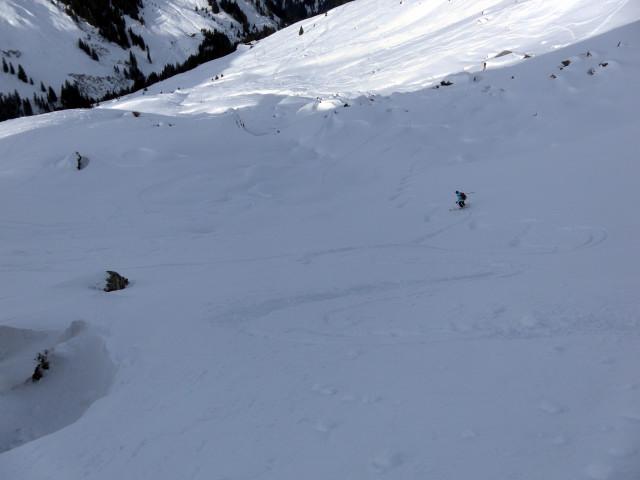 Foto: Wolfgang Lauschensky / Ski Tour / Von Aurach auf den Staffkogel (2115m) / NW-Karabfahrt / 02.01.2013 18:11:01