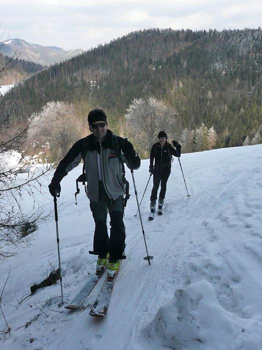 Foto: Lenswork.at / Ch. Streili / Ski Tour / Über den Pillstein auf das Zwölferhorn (1521m) / 16.02.2008 19:19:49