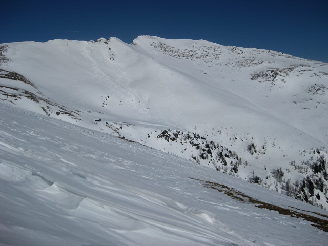 Foto: Wolfgang Lauschensky / Ski Tour / Mallnock (2226m) und Klomnock (2331m) / Klomnock-Sonnenhänge / 13.01.2012 18:57:26