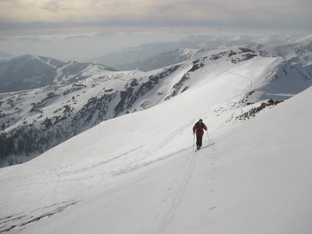 Foto: Wolfgang Lauschensky / Ski Tour / Mallnock (2226m) und Klomnock (2331m) / Kammwanderung vom Mallnock zum Klomnock / 13.01.2012 18:55:39