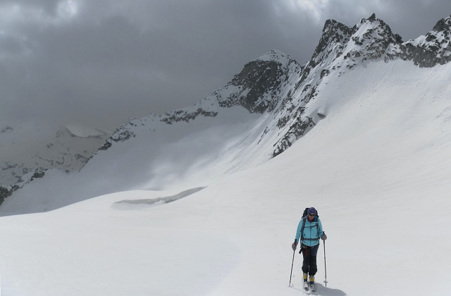 Foto: Wolfgang Lauschensky / Ski Tour / Von der Kürsingerhütte auf die Schlieferspitze (3290m) / Schliefertürme / 07.05.2013 15:59:16