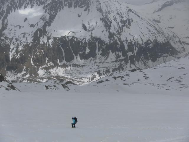 Foto: Wolfgang Lauschensky / Ski Tour / Von der Kürsingerhütte auf die Schlieferspitze (3290m) / Direktabfahrt zum oberen Keesboden / 07.05.2013 15:58:33