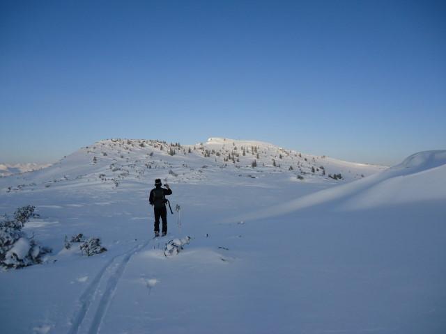 Foto: Günter Siegl / Ski Tour / Ausseer Zinken (1854m) / Gipfelaufbau. / 19.02.2012 14:27:42