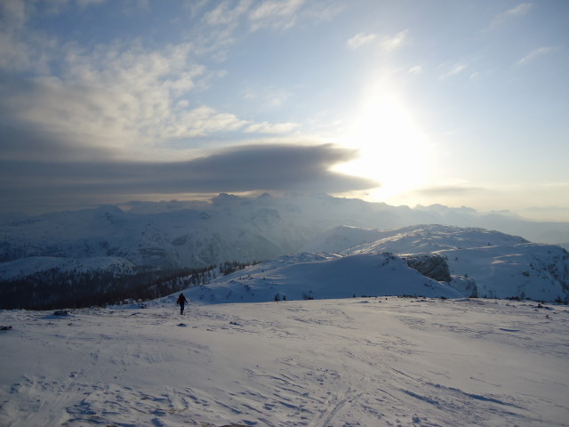 Foto: Günter Siegl / Skitour / Ausseer Zinken (1854m) / Am Gipfel. / 19.02.2012 14:27:25
