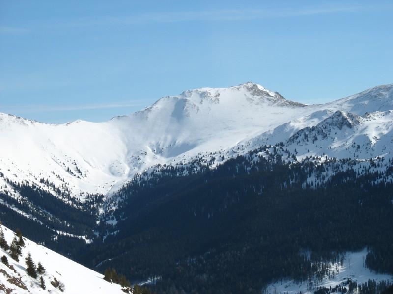 Foto: namaste / Ski Tour / Hochschwung (2196m) / Blick zum Hochschwung beim Aufstieg zum Hochrettelstein / 14.02.2008 20:21:52