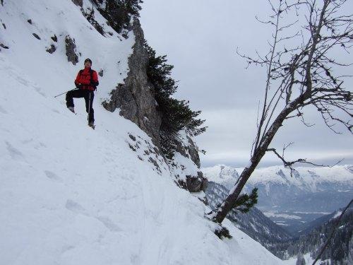 Foto: hofchri / Ski Tour / Braunedlkogel (1894 m) / gute Spitzkehrentechnik ist im steilen Gelände Pflicht! / 04.01.2009 18:38:55