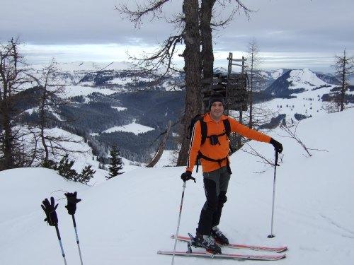 Foto: hofchri / Ski Tour / Braunedlkogel (1894 m) / wir wählten die steilere Variante - erster Einstieg links / 04.01.2009 18:40:07