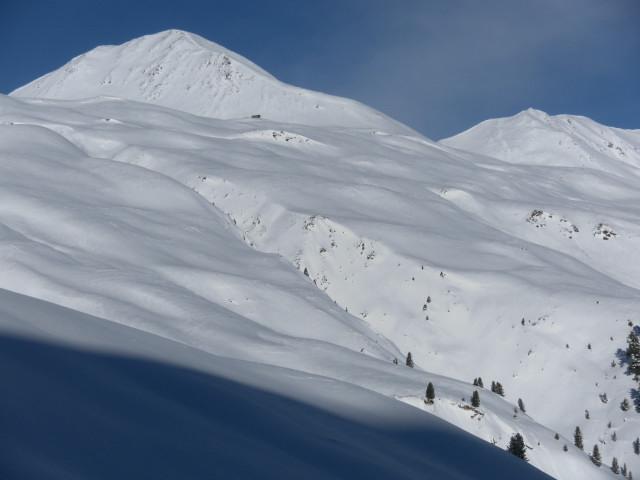 Foto: Wolfgang Lauschensky / Ski Tour / Innerer Nockenkopf / Innerer Nockenkopf aus dem Anstieg zum Grionkopf / 10.01.2014 19:16:07