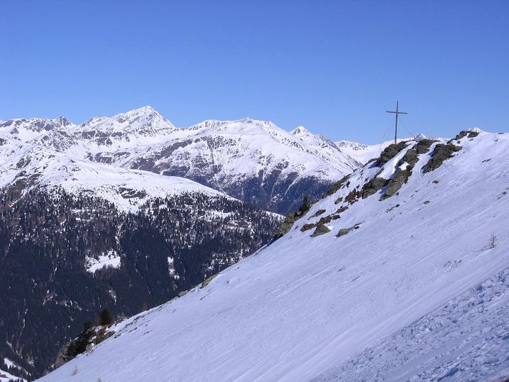 Foto: Andreas Koller / Skitour / Vom Helm (2434 m) aufs Hornischegg (2550 m) und die Hollbrucker Spitze (2581 m) / 23.12.2008 16:42:36