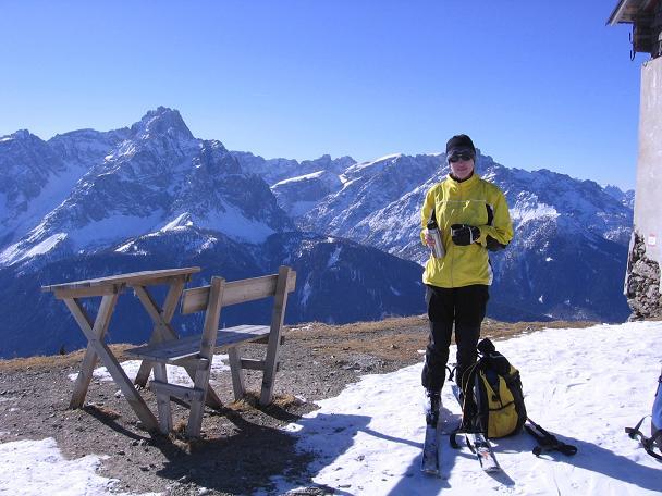 Foto: Andreas Koller / Skitour / Vom Helm (2434 m) aufs Hornischegg (2550 m) und die Hollbrucker Spitze (2581 m) / 23.12.2008 16:42:18