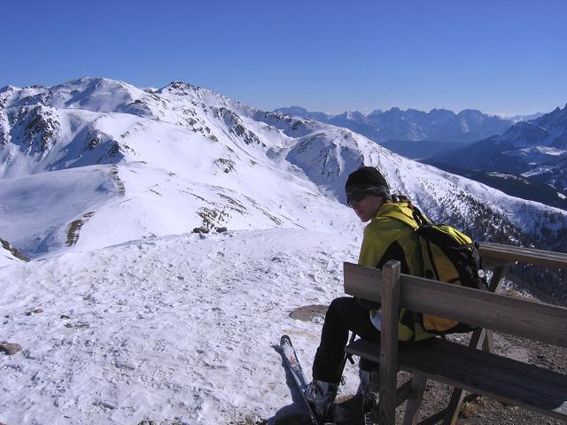 Foto: Andreas Koller / Skitour / Vom Helm (2434 m) aufs Hornischegg (2550 m) und die Hollbrucker Spitze (2581 m) / 23.12.2008 16:41:59