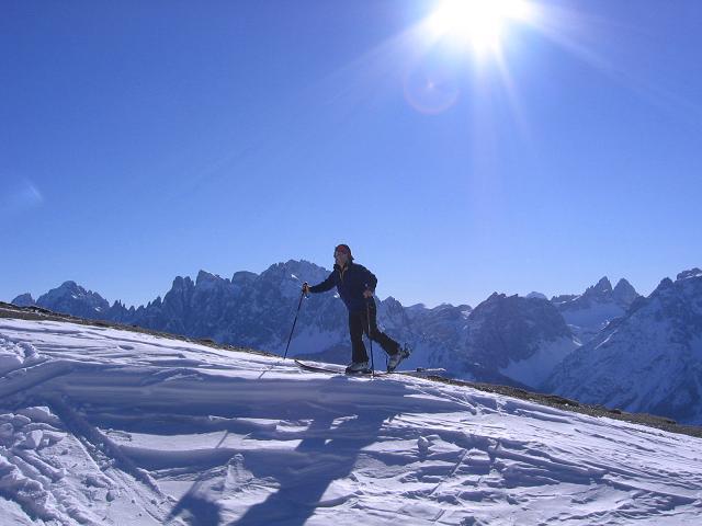 Foto: Andreas Koller / Skitour / Vom Helm (2434 m) aufs Hornischegg (2550 m) und die Hollbrucker Spitze (2581 m) / 23.12.2008 16:40:54