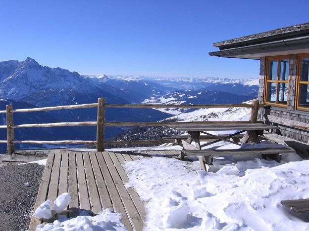Foto: Andreas Koller / Skitour / Vom Helm (2434 m) aufs Hornischegg (2550 m) und die Hollbrucker Spitze (2581 m) / 23.12.2008 16:40:44