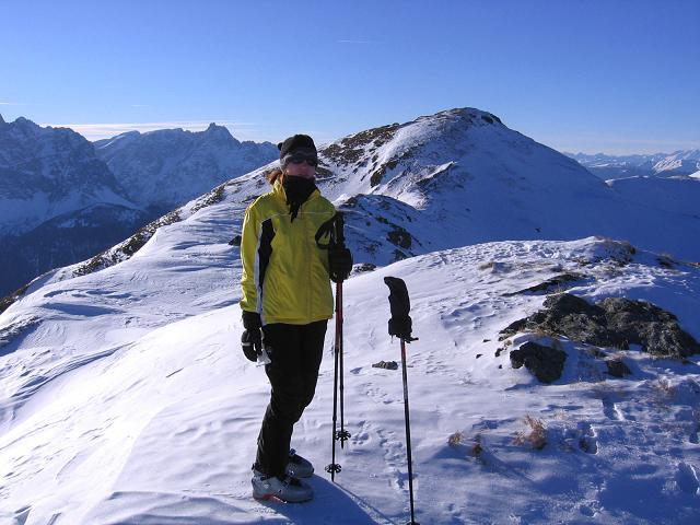 Foto: Andreas Koller / Skitour / Vom Helm (2434 m) aufs Hornischegg (2550 m) und die Hollbrucker Spitze (2581 m) / 23.12.2008 16:40:09