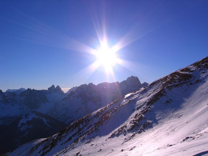 Foto: Andreas Koller / Skitour / Vom Helm (2434 m) aufs Hornischegg (2550 m) und die Hollbrucker Spitze (2581 m) / 23.12.2008 16:39:53