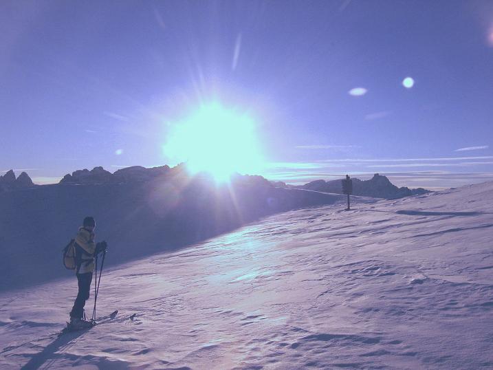 Foto: Andreas Koller / Skitour / Vom Helm (2434 m) aufs Hornischegg (2550 m) und die Hollbrucker Spitze (2581 m) / 23.12.2008 16:39:37