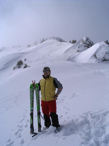 Foto: Andreas Koller / Ski Tour / Langeck (1899m) - Hundstein (2117m) - Hochkaser (2017m) / 24.12.2008 01:53:39