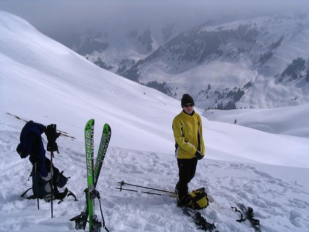 Foto: Andreas Koller / Ski Tour / Langeck (1899m) - Hundstein (2117m) - Hochkaser (2017m) / 24.12.2008 01:53:35