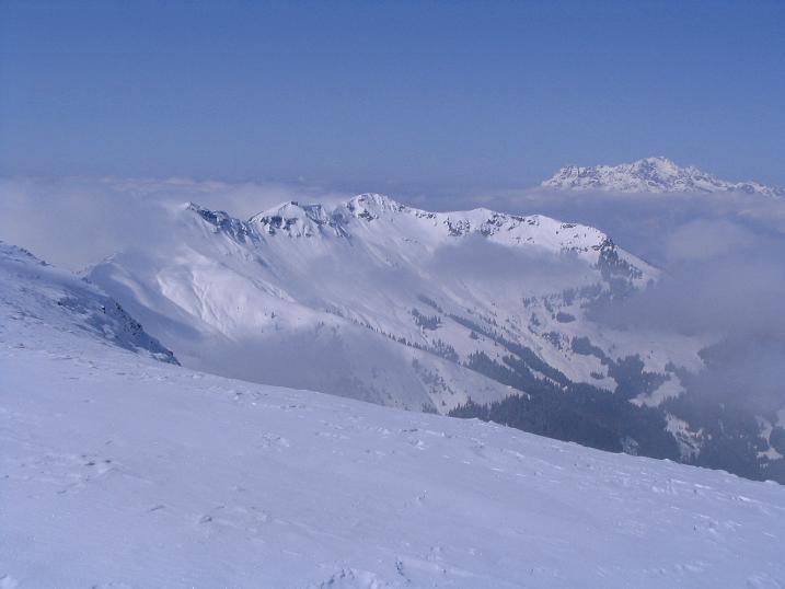 Foto: Andreas Koller / Ski Tour / Langeck (1899m) - Hundstein (2117m) - Hochkaser (2017m) / 24.12.2008 01:53:26