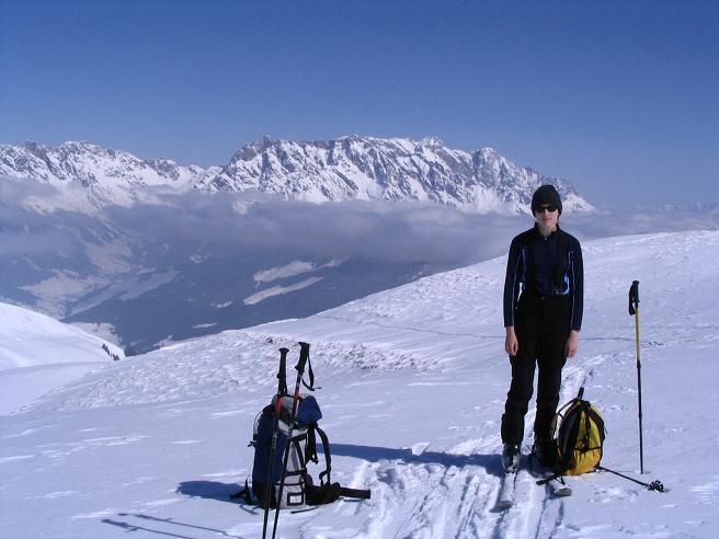 Foto: Andreas Koller / Ski Tour / Langeck (1899m) - Hundstein (2117m) - Hochkaser (2017m) / 24.12.2008 01:53:12