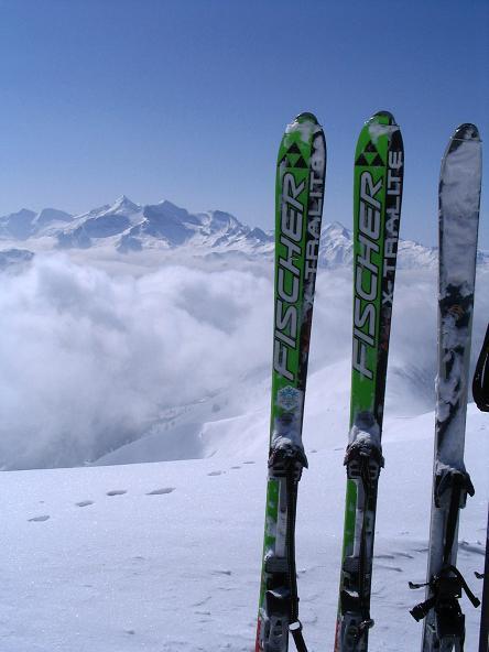 Foto: Andreas Koller / Ski Tour / Langeck (1899m) - Hundstein (2117m) - Hochkaser (2017m) / 24.12.2008 01:52:59