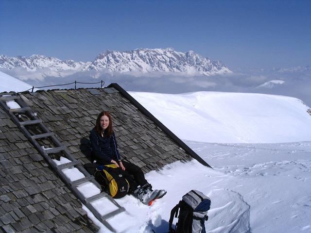 Foto: Andreas Koller / Ski Tour / Langeck (1899m) - Hundstein (2117m) - Hochkaser (2017m) / 24.12.2008 01:52:48