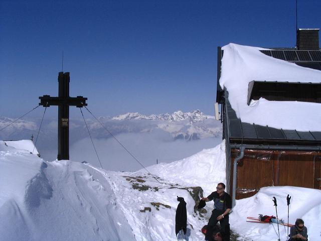 Foto: Andreas Koller / Ski Tour / Langeck (1899m) - Hundstein (2117m) - Hochkaser (2017m) / 24.12.2008 01:52:41