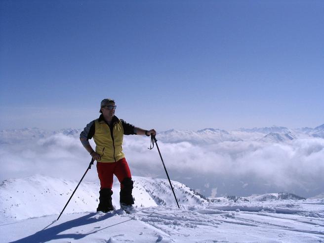 Foto: Andreas Koller / Ski Tour / Langeck (1899m) - Hundstein (2117m) - Hochkaser (2017m) / 24.12.2008 01:52:36