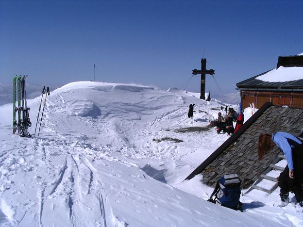 Foto: Andreas Koller / Ski Tour / Langeck (1899m) - Hundstein (2117m) - Hochkaser (2017m) / 24.12.2008 01:52:23