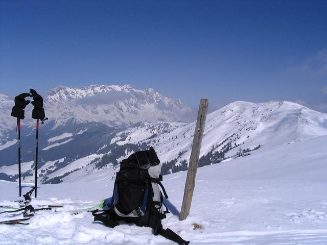 Foto: Andreas Koller / Ski Tour / Langeck (1899m) - Hundstein (2117m) - Hochkaser (2017m) / 24.12.2008 01:51:36