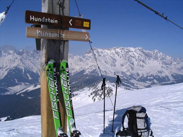 Foto: Andreas Koller / Ski Tour / Langeck (1899m) - Hundstein (2117m) - Hochkaser (2017m) / 24.12.2008 01:51:00