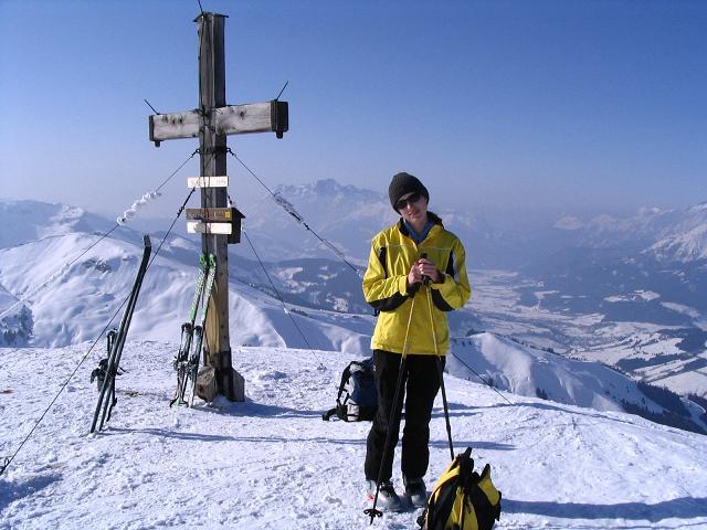Foto: Andreas Koller / Ski Tour / Langeck (1899m) - Hundstein (2117m) - Hochkaser (2017m) / 24.12.2008 01:50:44