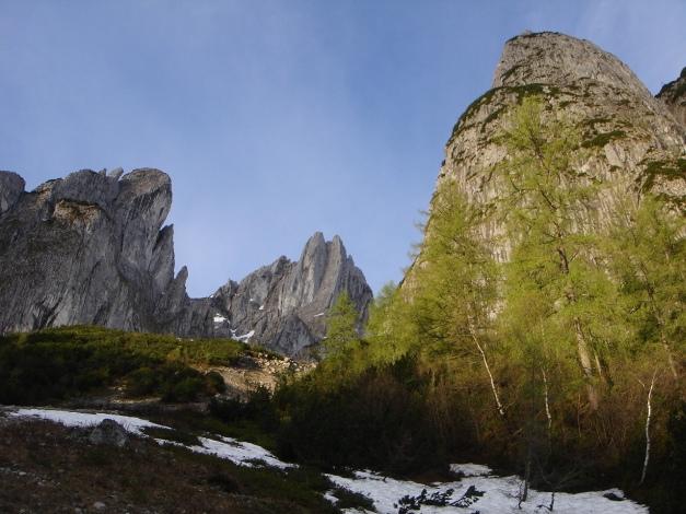 Foto: Manfred Karl / Ski Tour / Manndlscharte (2098m) / Im Frühjahr ist hier meist schon Schi tragen angesagt / 27.01.2009 20:57:16