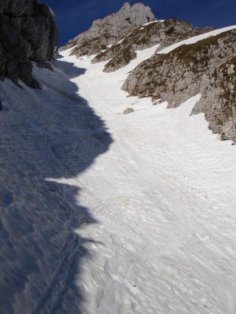 Foto: Manfred Karl / Ski Tour / Manndlscharte (2098m) / Soweit wie möglich mit Steigfellen hinauf / 27.01.2009 20:51:23