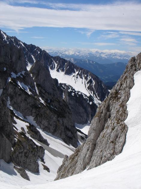 Foto: Manfred Karl / Ski Tour / Manndlscharte (2098m) / Ausblick von der Manndlscharte in die Hohen Tauern / 27.01.2009 20:49:47