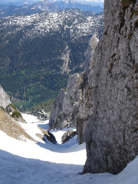 Foto: Manfred Karl / Ski Tour / Manndlscharte (2098m) / Steile Firnrinne / 27.01.2009 20:48:53