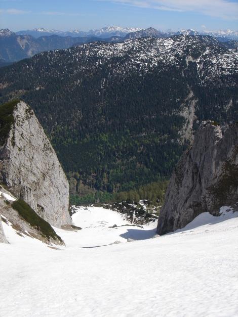 Foto: Manfred Karl / Ski Tour / Manndlscharte (2098m) / Wasserriese, flankiert von Steigkogel und Linzerturm / 27.01.2009 20:45:40